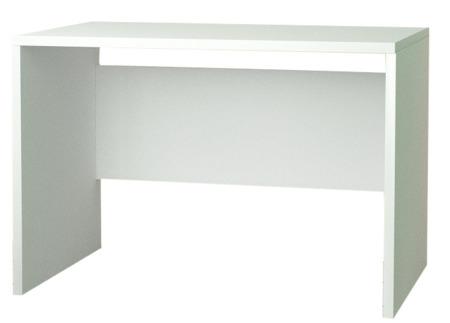 Biurko komputerowe, białe, 137 cm