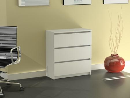 Komoda Rico 3 szuflady biała 60cm