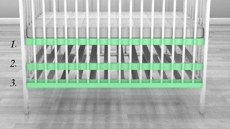 ŁÓŻECZKO NIEMOWLĘCE Z SZUFLADĄ KOMPLET 120 x 60 kolor biały