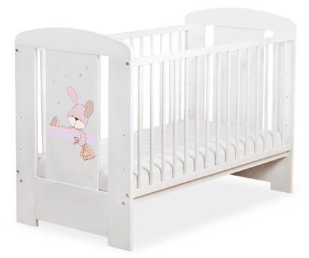 Łóżeczko 120x60cm Białe Dreamy bunny 5019-07-677