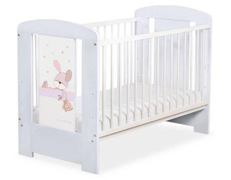 Łóżeczko 120x60cm Szaro-białe Dreamy bunny 5019-06-677