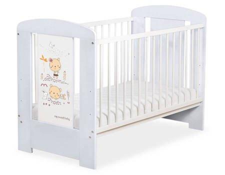 Łóżeczko 120x60cm Szaro-białe Sweet bears 5019-06-669