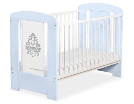 Łóżeczko Glamour 120x60cm Niebiesko-szare 5015-03-1