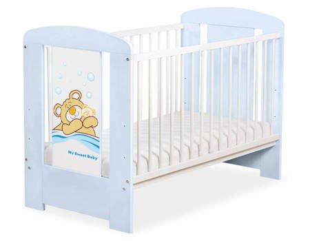 Łóżeczko Miś Barnaba 120x60cm Niebieskie 5005-03-803