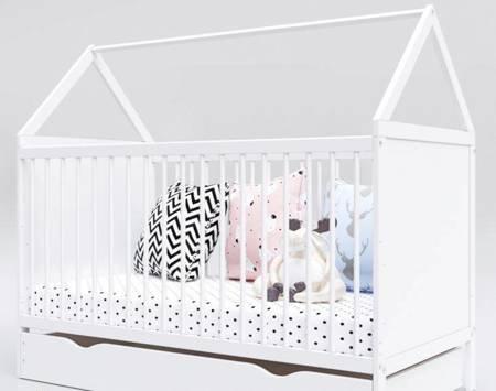 Łóżeczko Tapczanik House Domek 140x70 z szufladą