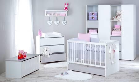 Łóżeczko dziecięce 140 x 70 cm + tapczanik + szuflada + materac