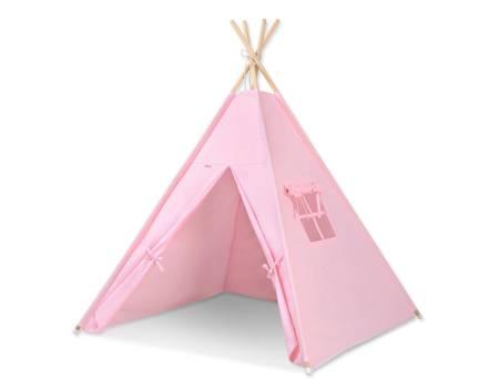Namiot Tipi Różowy + zawieszki pióra