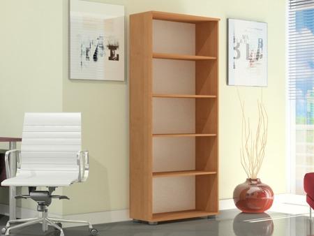 Regał biurowy wysoki 182 cm, G 60, szerokość 60cm kolor olcha