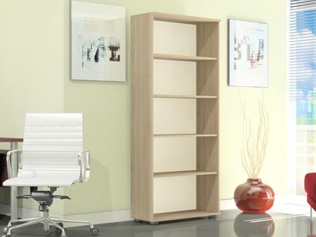 Regał biurowy wysoki 182 cm, G 60, szerokość 60cm kolor sonoma