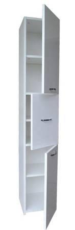 Słupek łazienkowy ANTEK 3D 40 cm Biały Połysk
