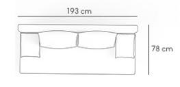 Sofa Sony 1 rozkładana sofa z funkcją spania kolor czarno-szary, 3 osobowa