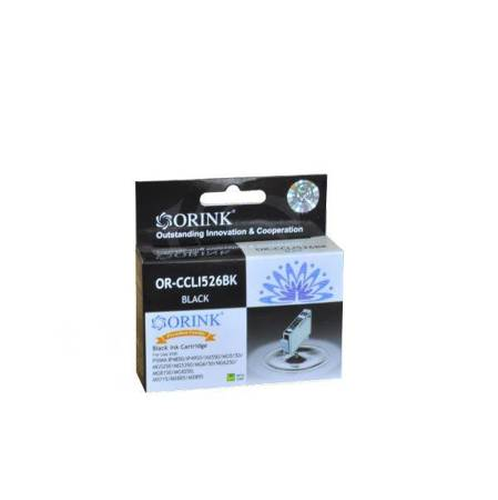 Tusz CLI526BK do drukarek Canon 526 Pixma iP4850 / IX6550 / MG5150 / MX715, Czarny, 10,5 ml