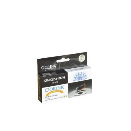 Tusz CLI551XLBK do drukarek Canon Pixma MG5450 / 6350 / Pixma iP7250, Czarny, 12 ml