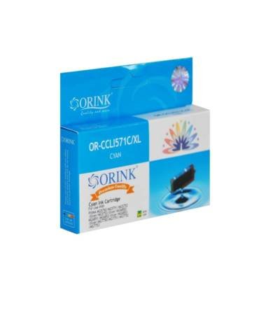 Tusz CLI571XLC do drukarek Canon Pixma MG5750 / MG6850 / MG7750 / CLI571C, Cyan, 12 ml